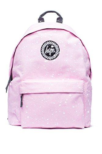 Hype Mochila Bolsas Mochila Mochila Escolar, | | más de 40variedades | nuevos estilos constantemente añadido | Premium Speckle & impreso rosa rosa, blanco 42