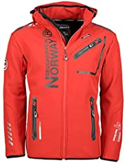 Geographical Norway Hombre Chaqueta Outdoor Softshell Rainman Turbo de Dry Capucha