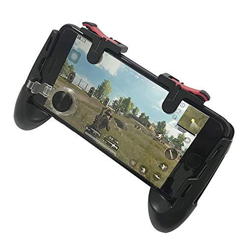 WYP 4-In-1 Handvat Set Mobiele Assistant Compatibel met Iphone, Galaxy, Sony, HTC, LG, Huawei, Xiaomi, Tablet Pad Knop En Andere Smartphones