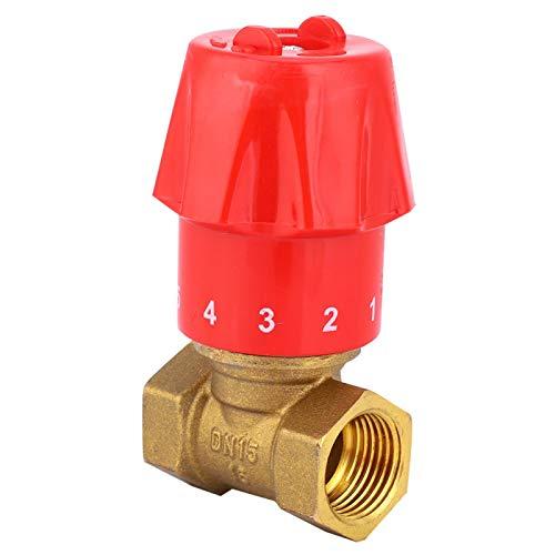Válvula de paso directo, válvula de control de flujo de latón, válvula de parada reguladora de flujo manual, rosca G hembra doble(1/2'DN15)