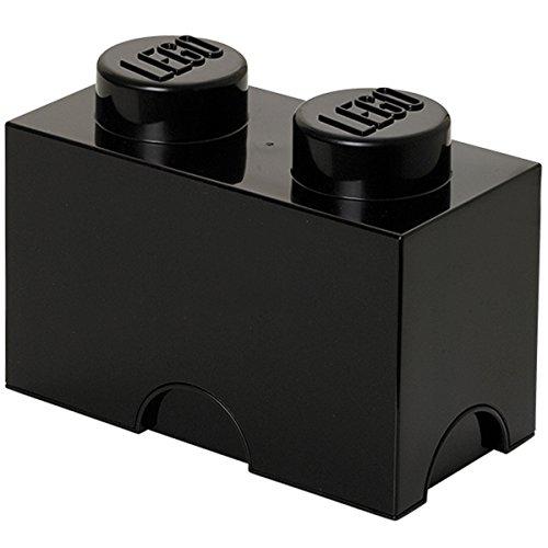 Petite brique de rangement empilable Noire - Lego Décoration