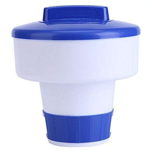 Kafuty Galleggiante per erogatore di Cloro, S M Galleggiante per Piscina Spa Distributore di Prodotti chimici di bromo e Cloro, Dispenser per Piscina Galleggiante Regolabile(8inch (M))