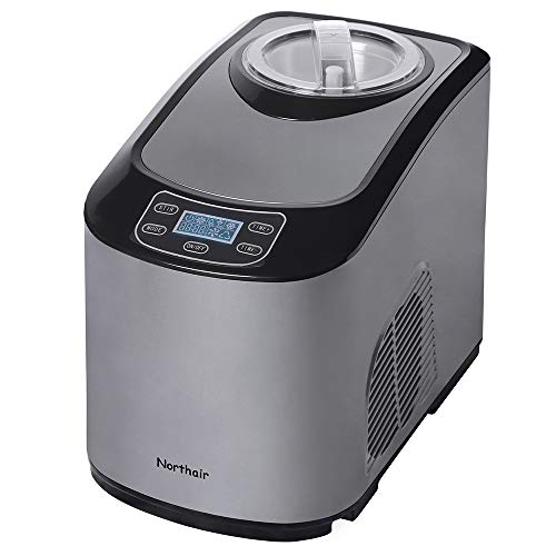 Northair Fully Automatic Ice Cream Maker with Compression Cooling, 1.4 Quart...