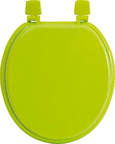 Tendance 4101141 Abattant WC en MDF, Vert anis, 46,8 x 37,5 x 30 cm