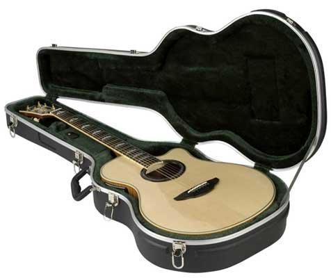 puissant SKB1 SKB-3 Slim Acoustic / Classic Guitar Case Noir