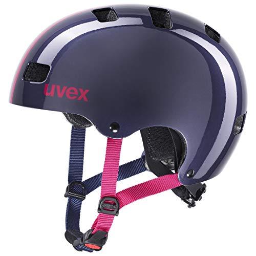 uvex Unisex Jugend Kid 3 Fahrradhelm, Race Midnight, 55-58 cm