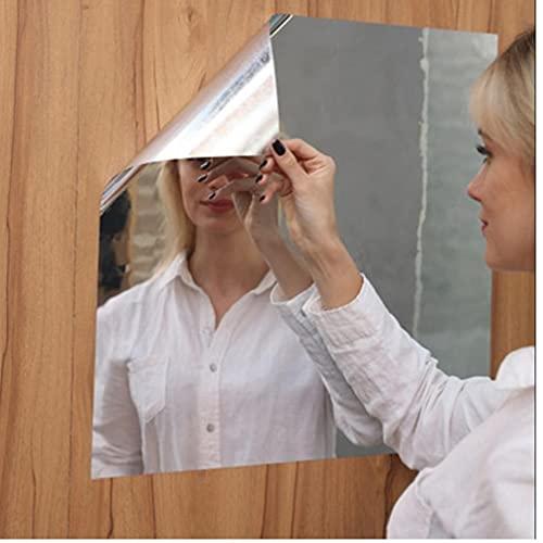 Onsinic 1pc 50x100 Espejo Auto-Adhesivo De Etiquetas Espejo Film Convención Espejo De Lámina Metálica Pegatinas De Pared Espejo Extraíble Pegar