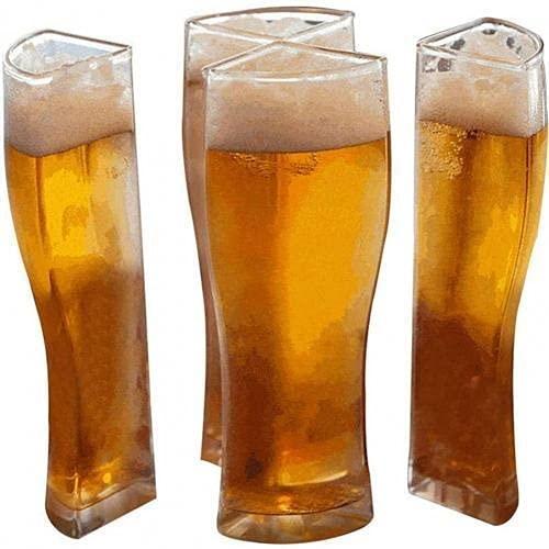 yijun Copa de vino separable 4 partes de gran capacidad gruesa transparente vasos de cerveza taza para Club Bar (color: S)