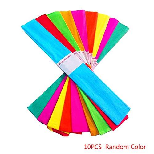 10st Craft crêpepapier rolvellen papier, crêpepapier inpakbloemist slingers partij verjaardag opknoping decoratie