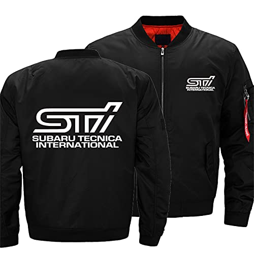 Men's Bomber Jacket for STI Flight Windproof Lightweight Outwear Autumn And Winter Warm Padded Coat Full Zip Pockets -Adult Gift