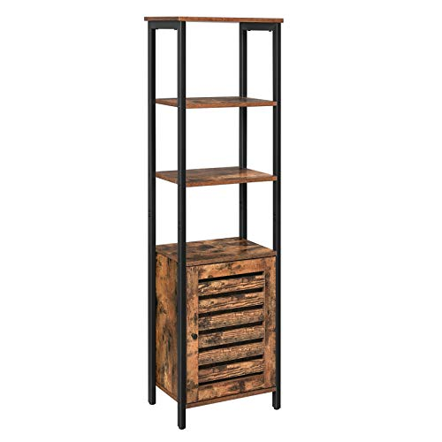VASAGLE Lowell Tall Cabinet, 4-Tier Storage Cabinet with Door and Inside...