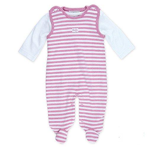 FEETJE L'ensemble grenouillère rayée bébé ensemble bébé, taille 44, rose