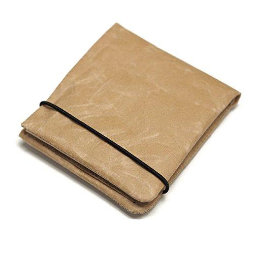 [シワ] 2つ折り財布 紙和 (ブラウン)
