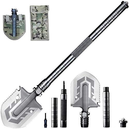 Multi-Purpose Folding Shovel 23-in-1 Ultimate Survival Tool by Mempa