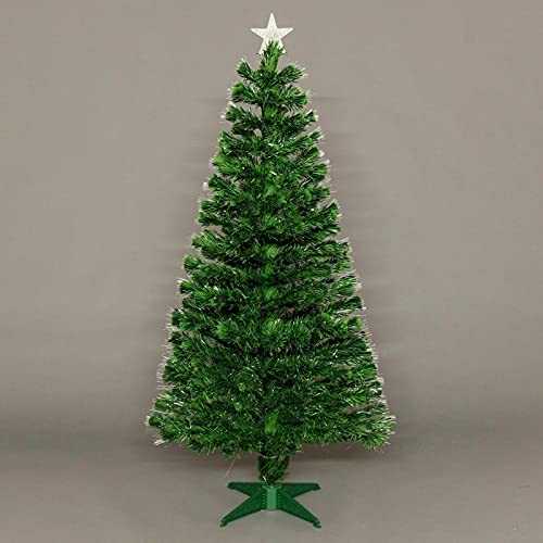 ADHW Fibre Optic Christmas Tree LED Lights Pre Lit Star Green Color Changing (Size : 2 FT)