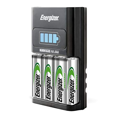 Energizer AA/AAA 1 Hour Charger with 4 AA NiMH Rechargeable Batteries (Charges AA or AAA batteries in 1 hour or less) CH1HRWB-4