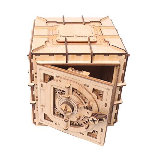 Daxoon 3D Rompecabezas de Madera DIY Treasure Box Modelo mec