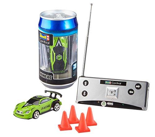 Revell Control 23560 Mini RC Racing-Car aus der Dose mit 40MHz-Fernsteuerung inkl. Ladefunktion, LED-Licht, kurze Ladezeit, lange Fahrzeit kleines ferngesteuertes Auto, Sportwagen