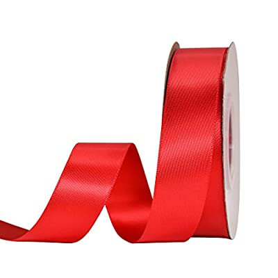 red satin double side ribbon