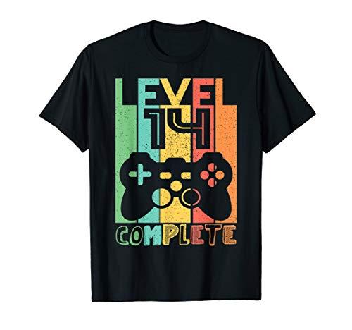 14 Geburtstag Geschenk - Level 14 Komplett Shirt Video Gamer T-Shirt