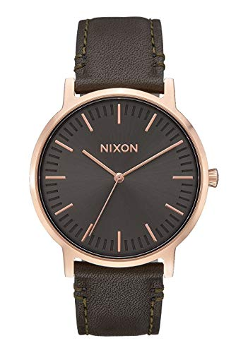 Nixon Herren Analog Quarz Uhr mit Leder Armband A10582441-00