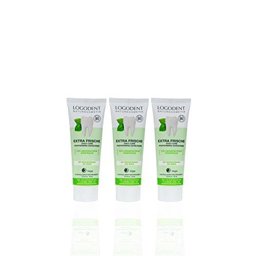 LOGODENT Zahncreme Daily Care (3 X 75 Ml), Wunderbar Minziger Geschmack, Bio Zahnpasta, Vegan, Fluoridfrei, Naturkosmetik