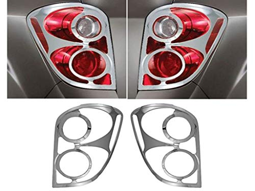 eLoveQ Chrome Plated Tail Light Frame Covers Fit 2010-2017 Chevrolet Equinox
