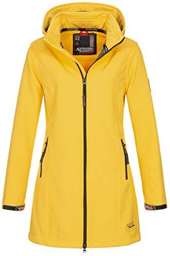 A. Salvarini Damen Softshell Jacke wasserabweisend Outdoor lang AS-131 [AS-131-Gelb-Gr.M]