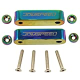JDMSPEED Neo Chrome CNC Billet 3/4' Replacement for Hood Vent Spacer Riser Kit + Bolts + Washers