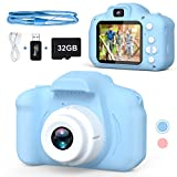 Balhvit Shockproof Selfie Kids Camera, Toddler Best Birthday Gifts Dual Camera for Kids Age 3-10, HD Digital Video with 32GB SD Card, Christmas Kids Toy for 3 4 5 6 7 8 Year Old Girls and Boys