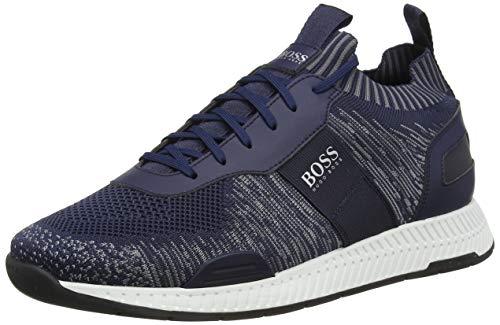 Hugo Boss Herren Titanium_runn_ks20 Sneaker, Blau Dark Blue 401, 40 EU