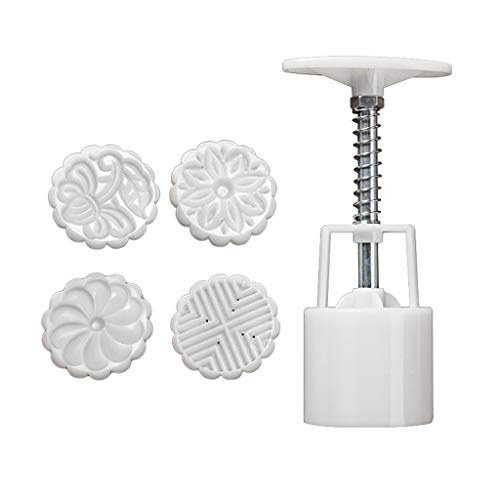 goneryisour 50/75/100g Mooncake Mold with 2/3/4/5/7/8 Stamps for Cake Pastry,Hand Press,DIY Bakeware,3D,Various Pattern