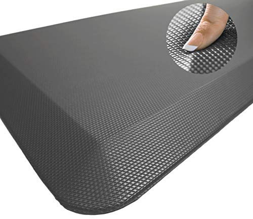 Sky Solutions Oasis Anti Fatigue Mat - Cushioned Comfort Floor Mats For Kitchen, Office & Garage - Padded Pad For Office - Non Slip Foam Cushion For Standing Desk (20x39x3/4-Inch, Gray)