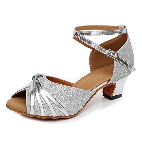 HIPPOSEUS Zapatos de Baile Latino con Brillo para Mujer Sandalias de Baile...