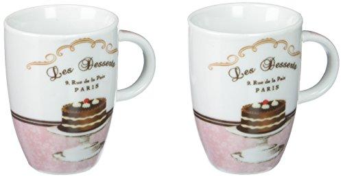 2er Set Espressotassen mit Untere 0,08l Les Desserts in Geschenkbox von PPD