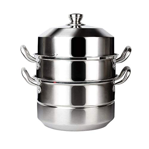 WPYYI Stackable Stainless Steel Pressure Cooker Steamer Insert Pans with Sling Handle (Size : 34Cm)