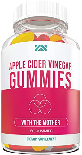 Apple Cider Vinegar Gummies - with The Mother | Detox | Cleanse | Weight Loss | Better Digestion | Heart Health | Aid Blood Pressure - Delicious ACV Gummies - 60 Count