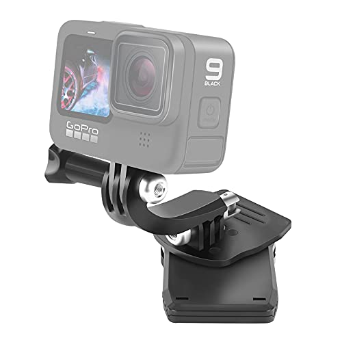 VKESEN Rucksack Halterung 360 Grad Drehbare Einstellbar Winkel Halter Clip für GoPro Hero 10, 9, 8, 7, Insta360, DJI Osmo Action und Anderen Action-Kameras