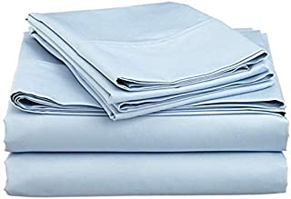 Heavy Fabric Sheet Set Solid Pattern 1500 Thread Count Heavy Fabric Rich Egyptian Cotton Quality 4-Pieces Luxurious Sheet Set Fits Mattress 16-18