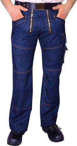 OYSTER Zunft-Hose Arbeits-Hose Jeans Stretch - blau - Größe: 98
