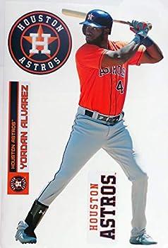 Yordan Alvarez FATHEAD + Houston Astros Logo Set Official MLB Vinyl Wall Graphics 17  INCH