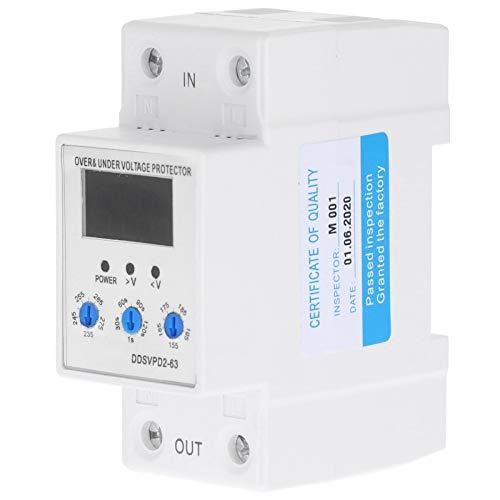 Dispositivo de protección de voltaje, con relé de protector de voltaje de plástico 220V 40A, 63A