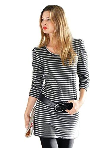 ANISTON Damen Longshirt Strickkleid Minikleid Gr 40