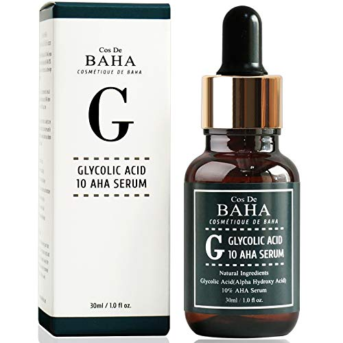 Glycolic Acid 10% AHA Peel Serum for Facial-Face Peel for Acne Scars - Alpha Hydroxy Acid for Tone it up, Wrinkles and Lines Reduction, Healthy Radiant Skin, Peel Off Face Masks, 1 Fl Oz