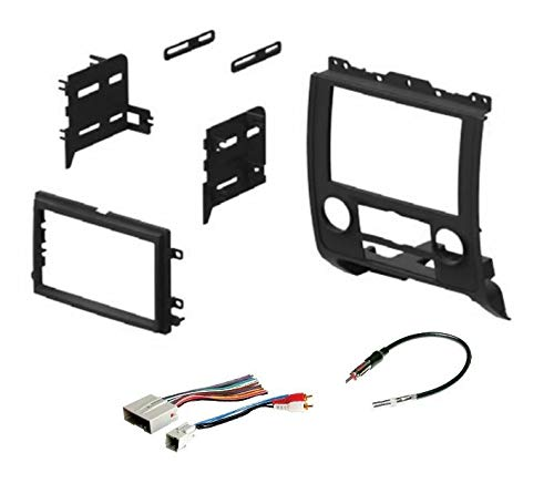 Car Stereo Radio Install Dash Mount Kit, Wire Harness, and Antenna Adapter to Add an Aftermarket Double Din Radio for 2008-2012 Ford Escape, 2008-2011 Mazda Tribute, 2008-2011 Mercury Mariner