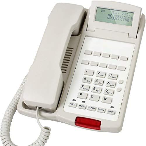 VERDELZ Teléfono Fijo Fijo Girar Pantalla Teléfono Montado En La Pared Teléfono Fijo Hotel Habitación De Invitados Identificador De Llamadas Pulsar para Hablar Oficina Hogar Teléfono Fijo