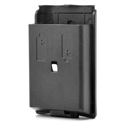Neuftech® Remplacement de Boîtier compartiment de Batterie, Cache Coques de couvercle housse pour support de pile pour manette sans fil xbox 360 - noire