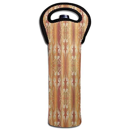 Rode wijn Sets Boheemse Ontwerp Golden Damask Beschermende Champagne Tote Bag Fles Houder Tas Geïsoleerde Gewatteerde