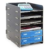 ZZYY Fichier Cabinet Boîte de Rangement en Bois Format A4 Document Titulaire de...
