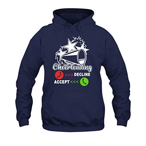 AreSheep Cheerleading is Calling Sudaderas con capucha para hombres, mujeres, ropa, Sudadera con capucha - azul marino, M
